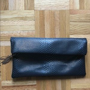 Snake/python faux leather Nasty Gal clutch